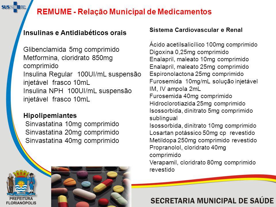 REMUME - Relação Municipal de Medicamentos