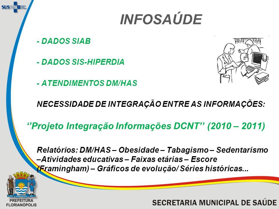 INFOSAÚDE ''Projeto Integração Informações DCNT'' (2010 – 2011)