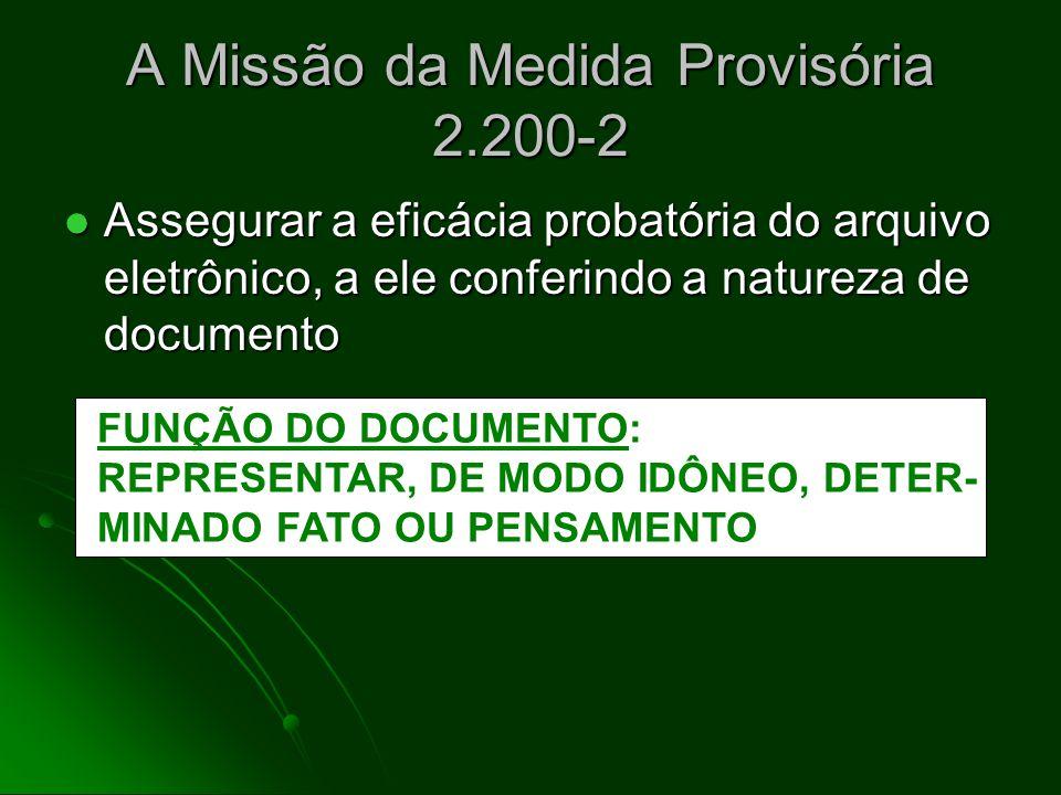 A Missão da Medida Provisória 2.200-2