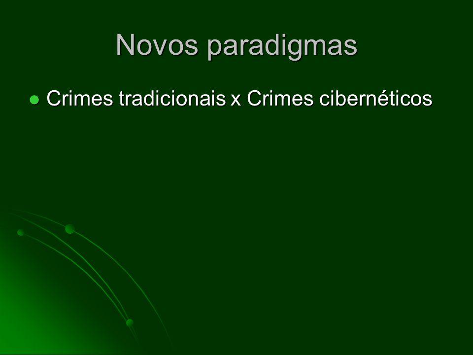 Novos paradigmas Crimes tradicionais x Crimes cibernéticos