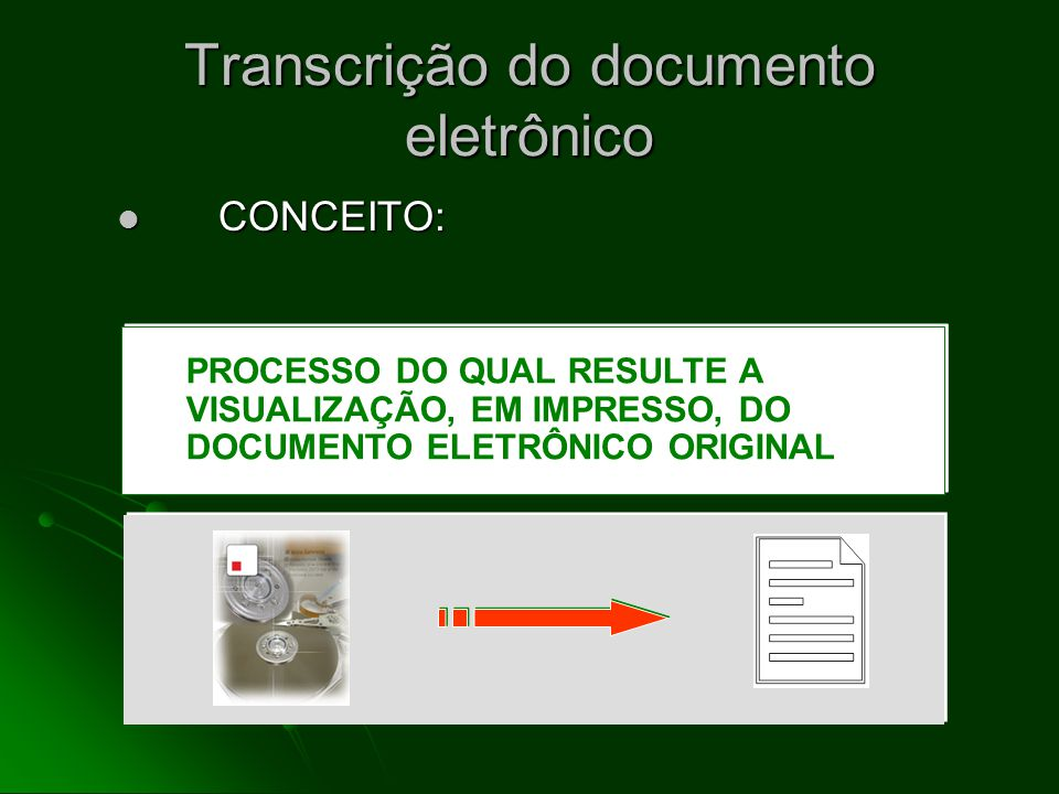 Transcrição do documento eletrônico