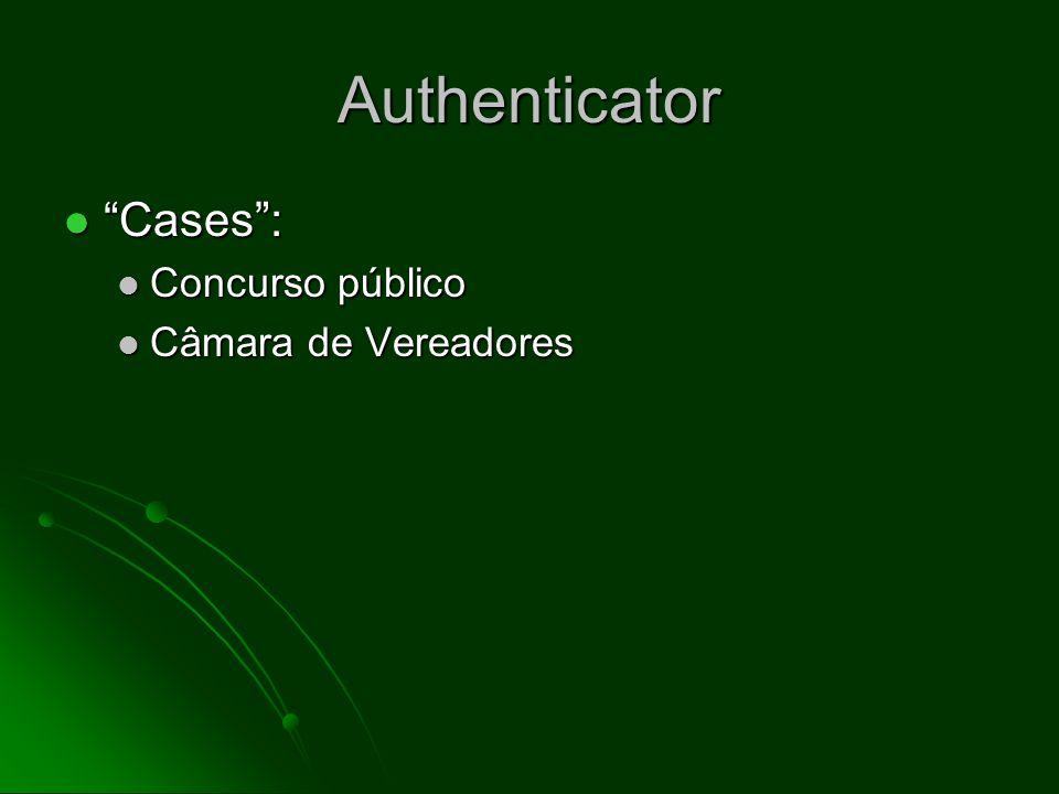 Authenticator Cases : Concurso público Câmara de Vereadores