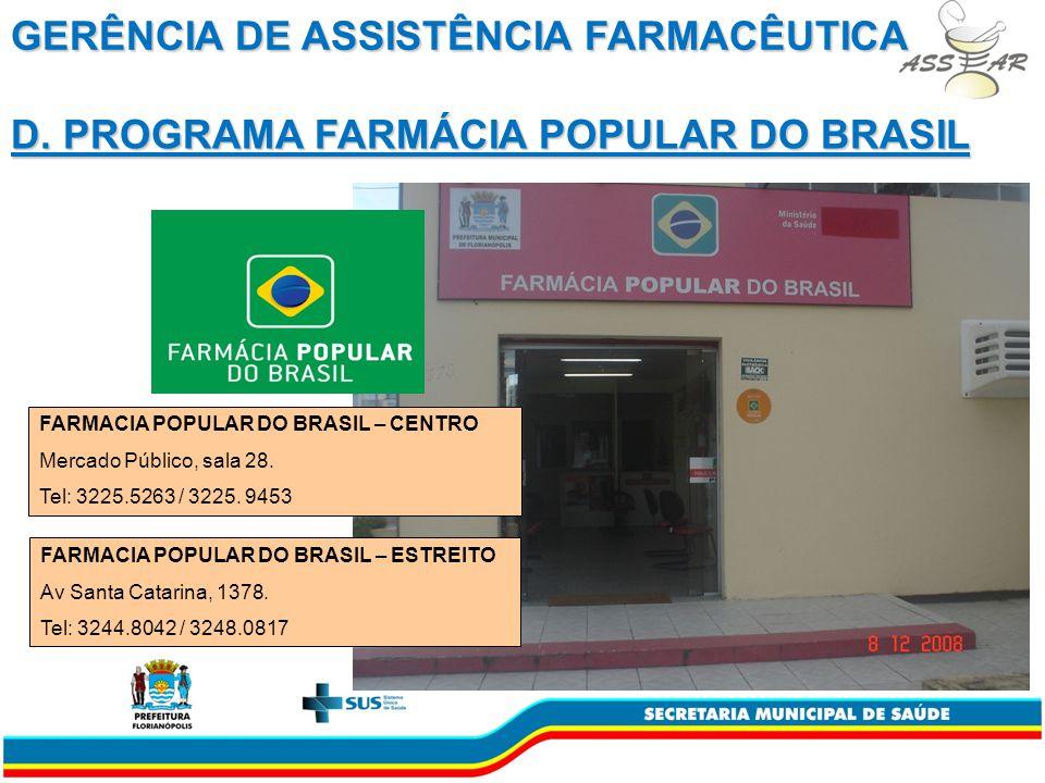 GERÊNCIA DE ASSISTÊNCIA FARMACÊUTICA