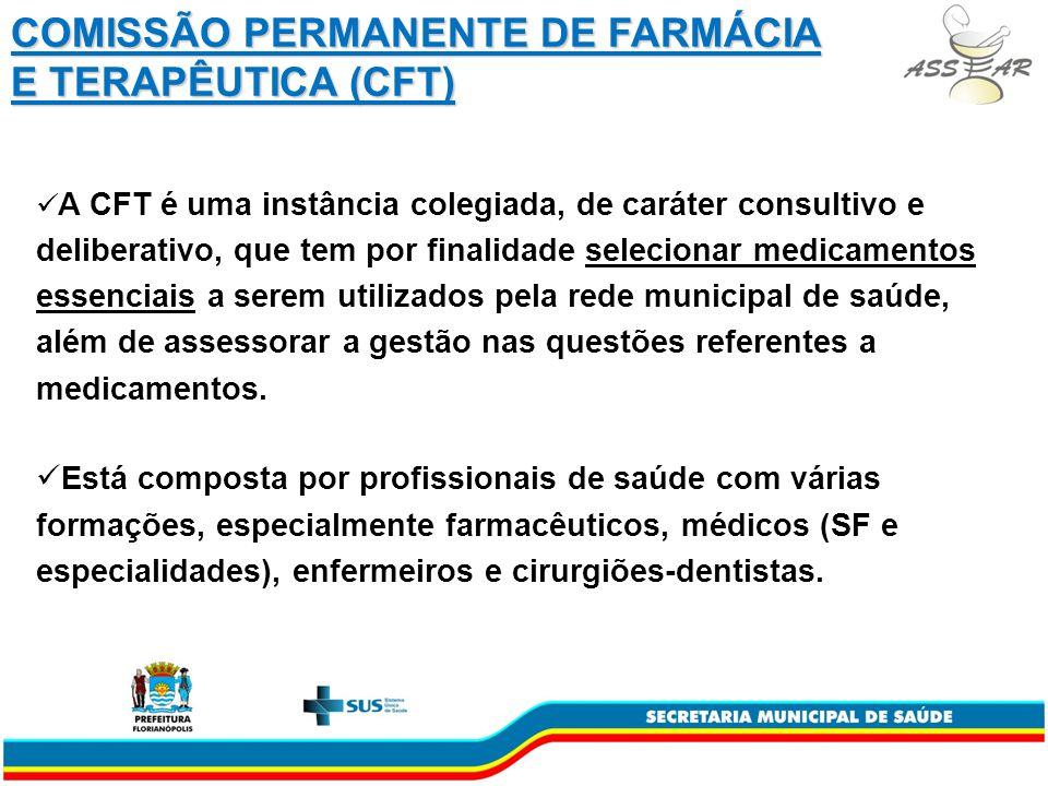 COMISSÃO PERMANENTE DE FARMÁCIA E TERAPÊUTICA (CFT)