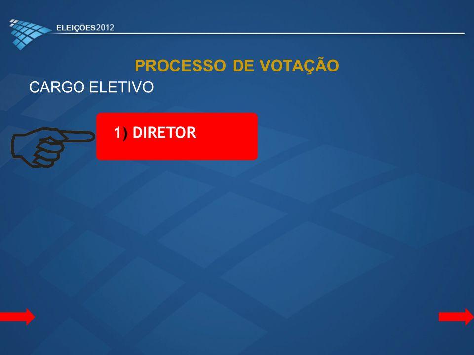 PROCESSO DE VOTAÇÃO CARGO ELETIVO 1) DIRETOR