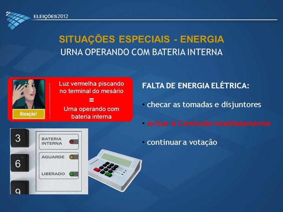SITUAÇÕES ESPECIAIS - ENERGIA