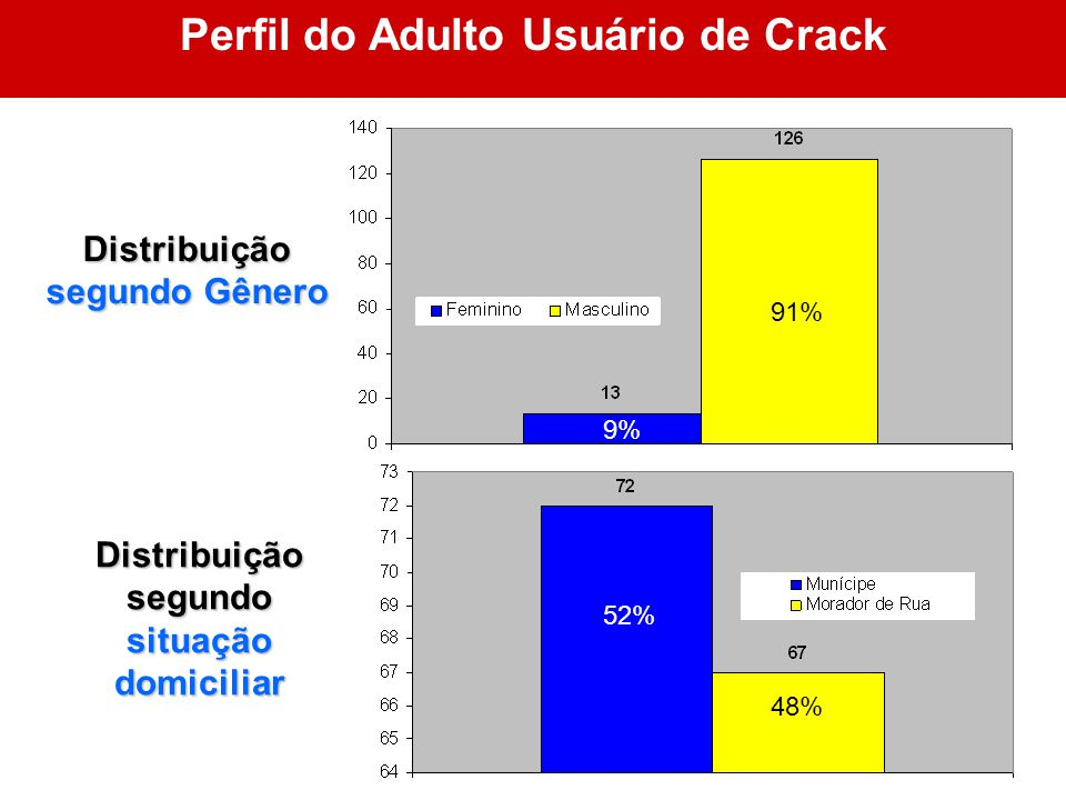 Perfil do Adulto Usuário de Crack segundo situação domiciliar