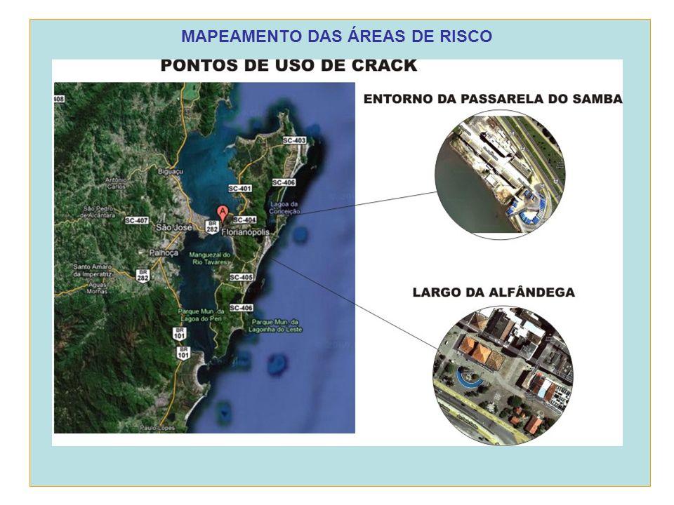 MAPEAMENTO DAS ÁREAS DE RISCO