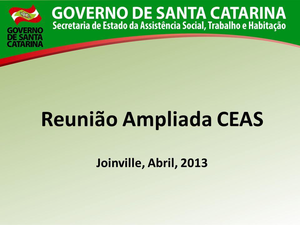 Reunião Ampliada CEAS Joinville, Abril, 2013