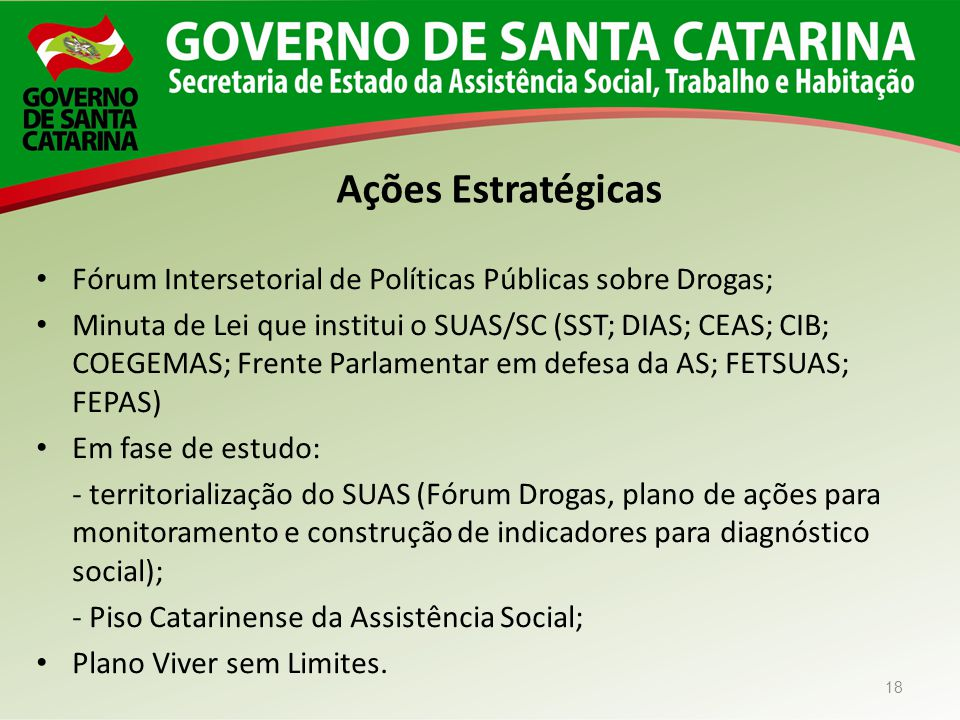Ações Estratégicas Fórum Intersetorial de Políticas Públicas sobre Drogas;