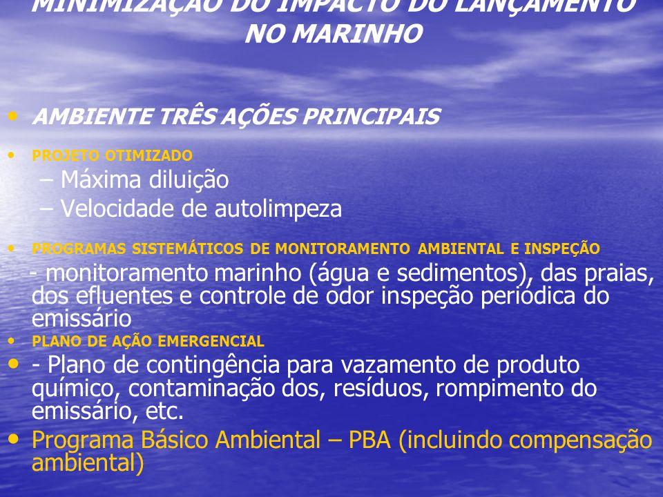 MINIMIZAÇÃO DO IMPACTO DO LANÇAMENTO NO MARINHO