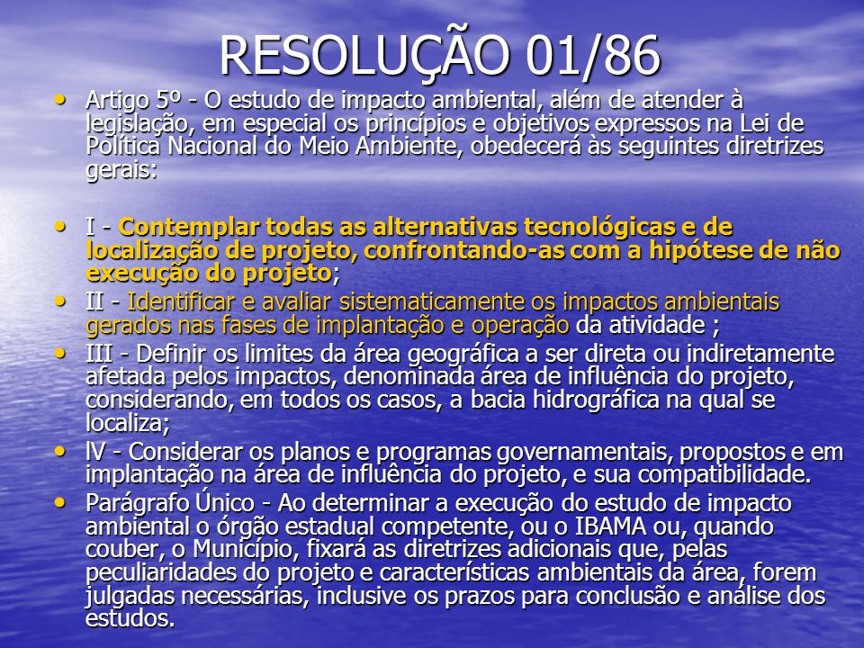 RESOLUÇÃO 01/86