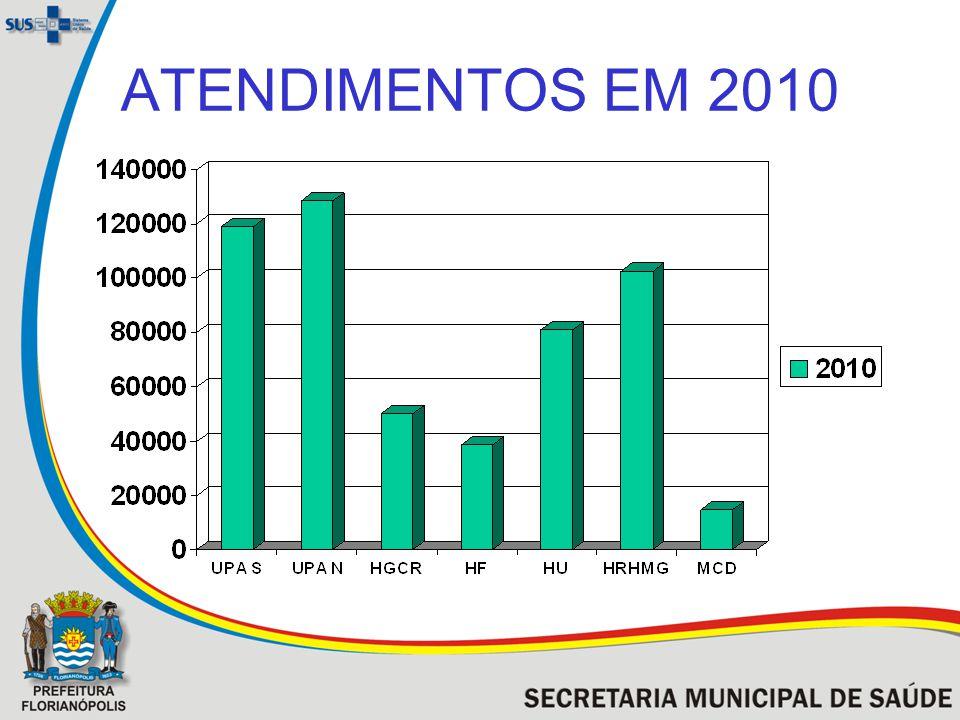 ATENDIMENTOS EM 2010