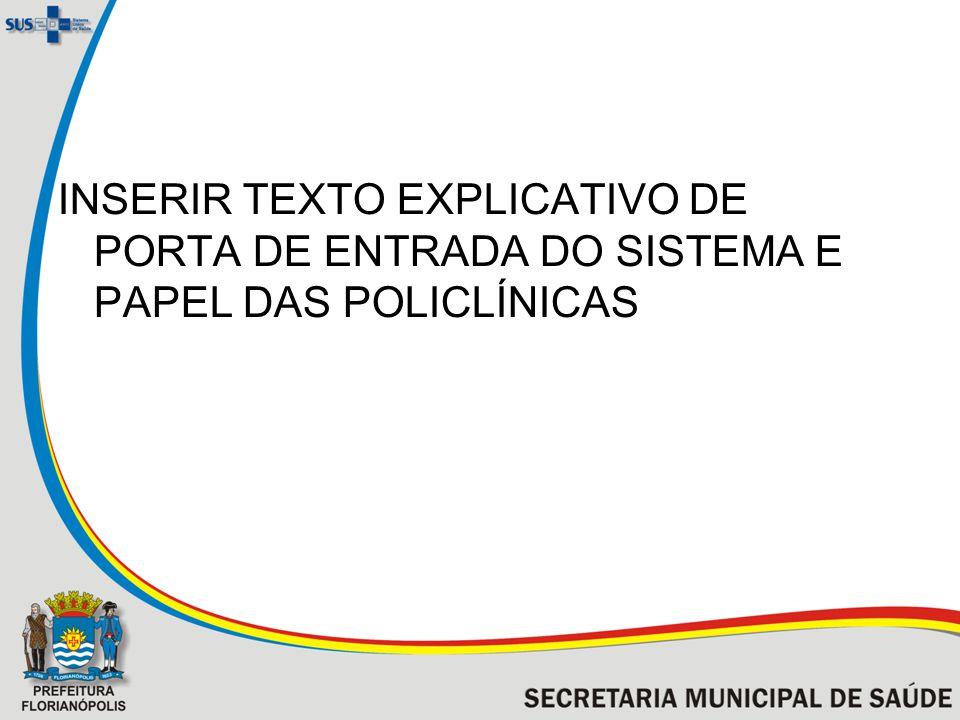 INSERIR TEXTO EXPLICATIVO DE PORTA DE ENTRADA DO SISTEMA E PAPEL DAS POLICLÍNICAS
