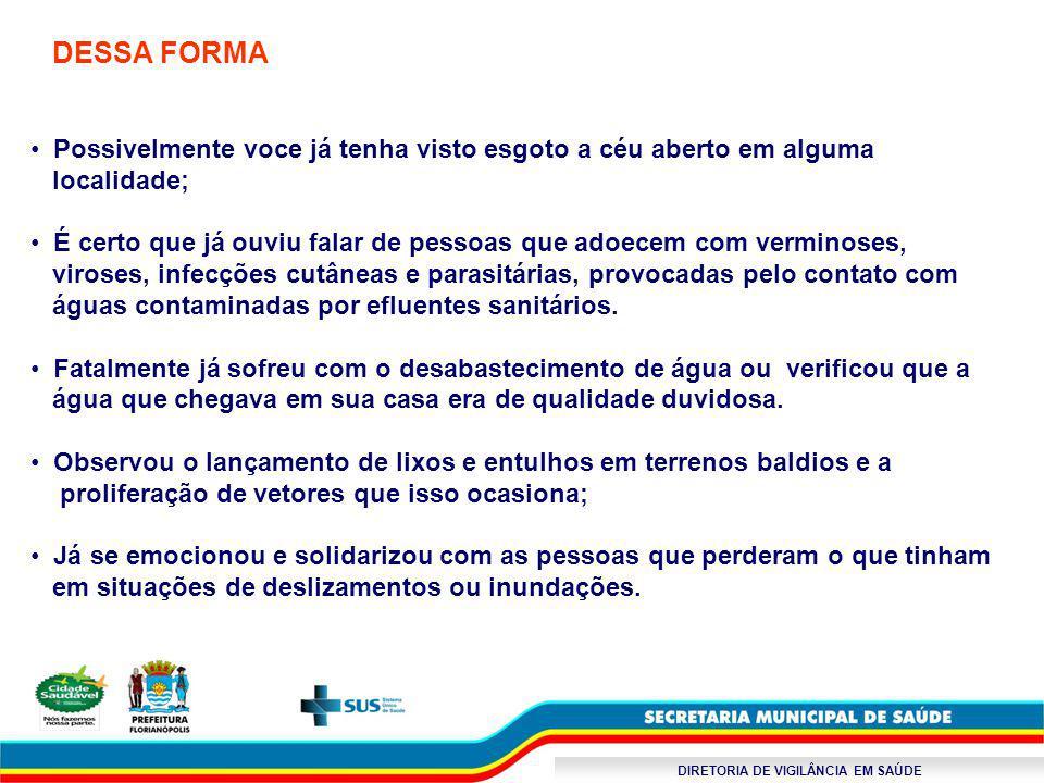 DIRETORIA DE VIGILÂNCIA EM SAÚDE