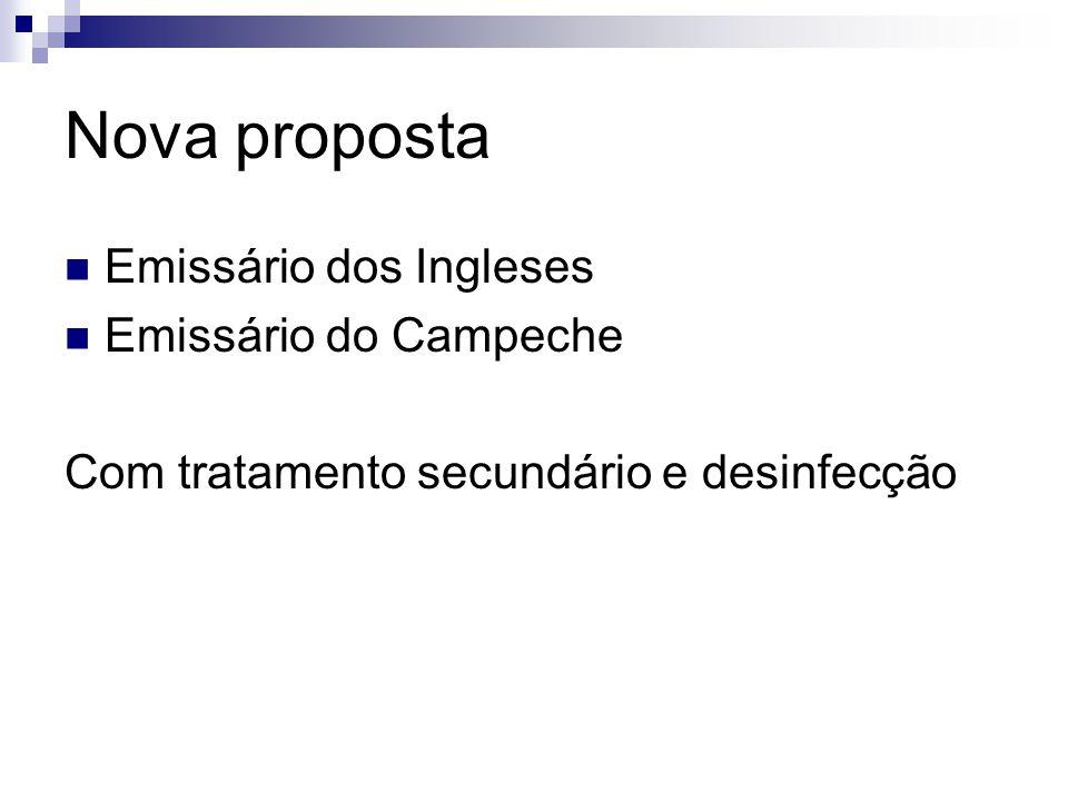 Nova proposta Emissário dos Ingleses Emissário do Campeche