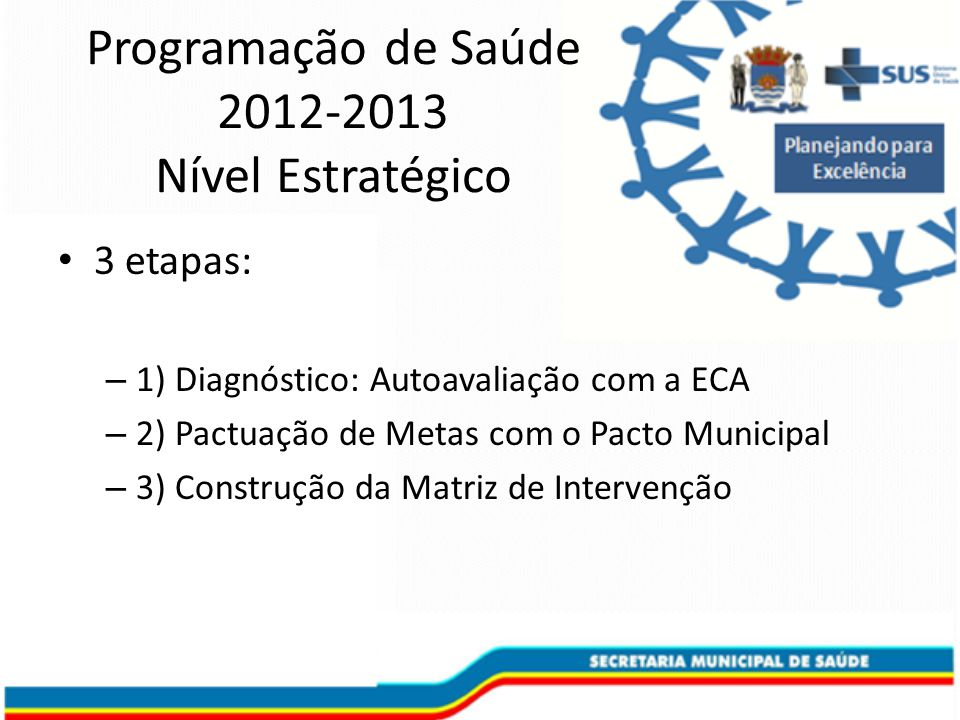 Programação de Saúde 2012-2013 Nível Estratégico