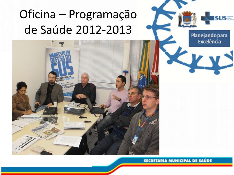 Oficina – Programação de Saúde 2012-2013