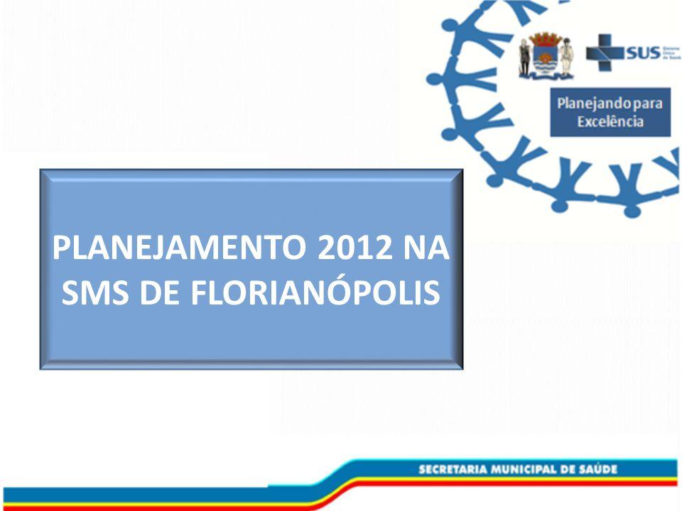 PLANEJAMENTO 2012 NA SMS DE FLORIANÓPOLIS