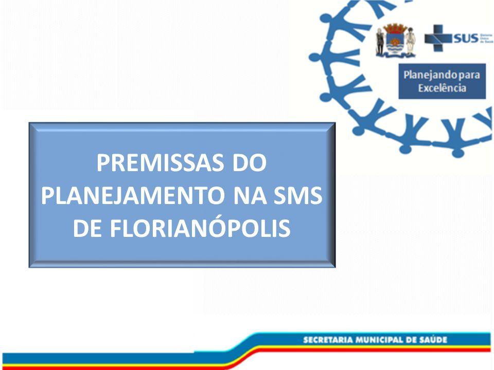 PREMISSAS DO PLANEJAMENTO NA SMS DE FLORIANÓPOLIS
