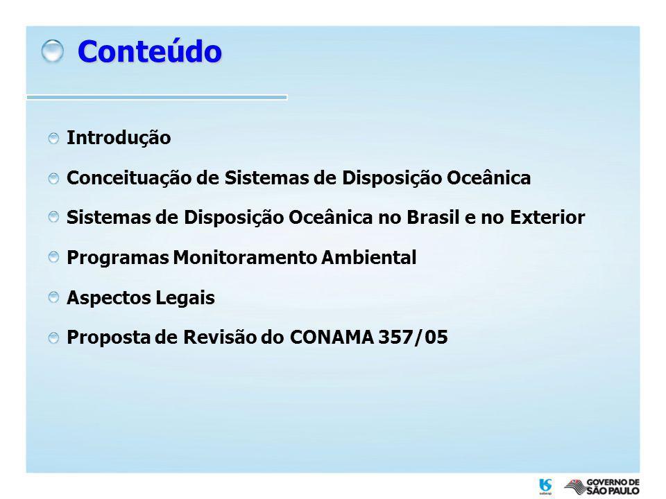 Conteúdo Introdução Conceituação de Sistemas de Disposição Oceânica
