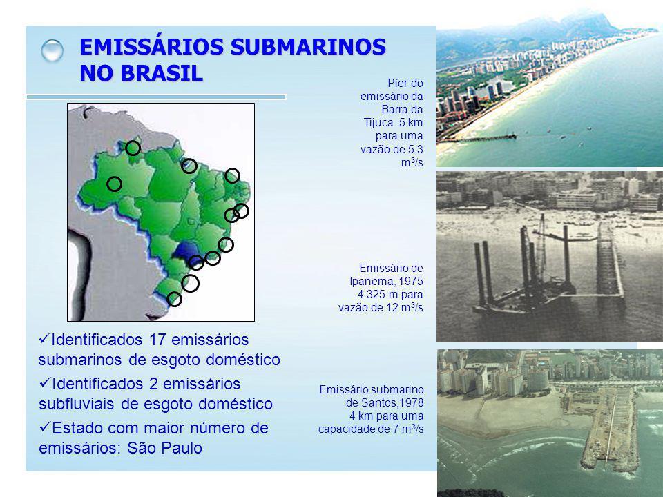 EMISSÁRIOS SUBMARINOS NO BRASIL