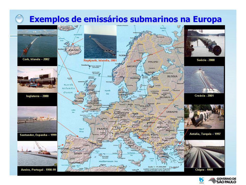 Exemplos de emissários submarinos na Europa