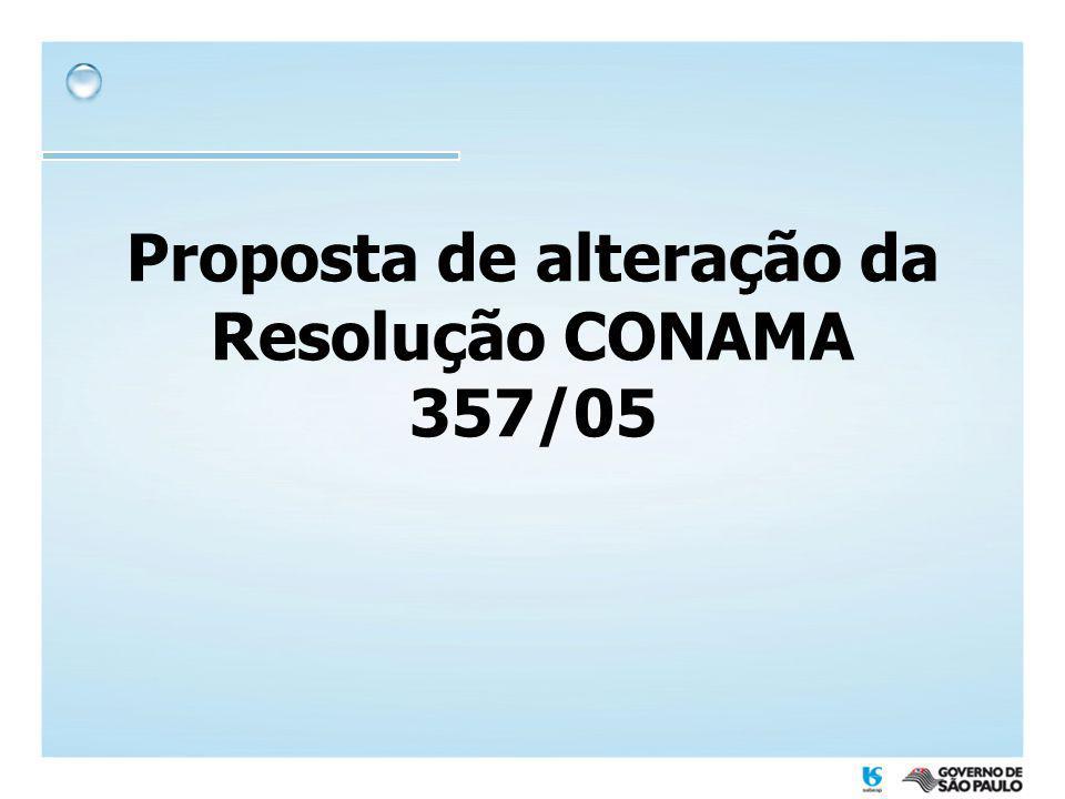 Proposta de alteração da Resolução CONAMA 357/05