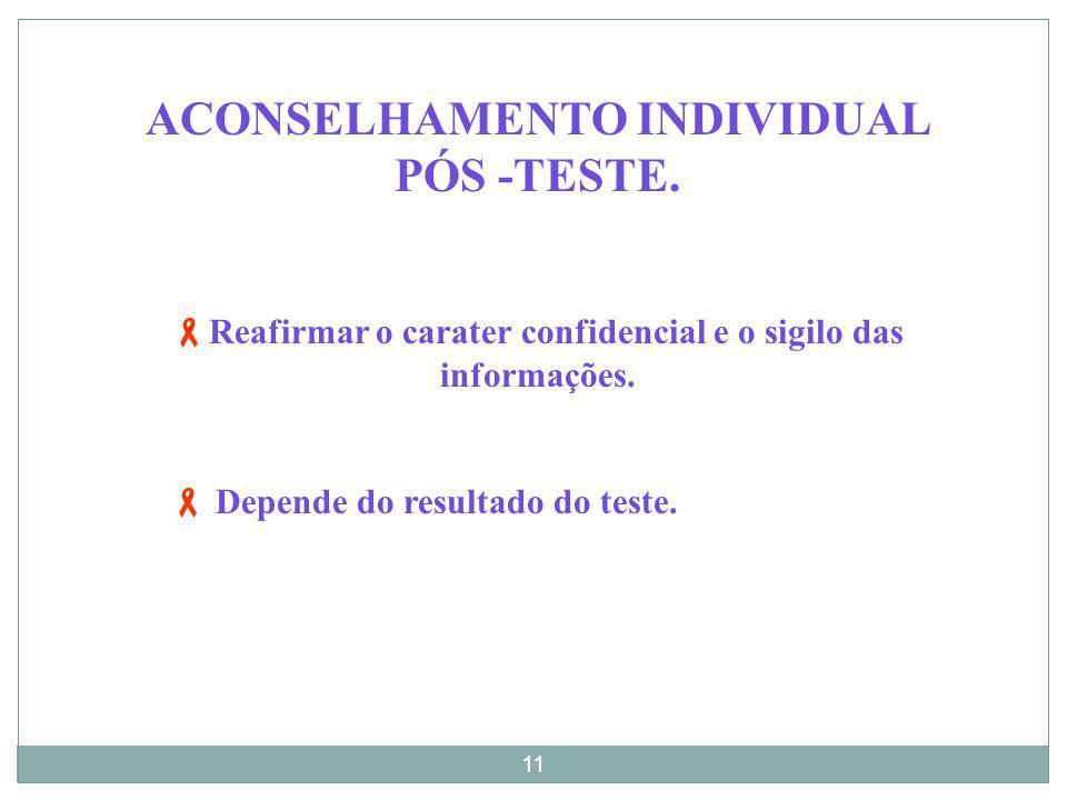ACONSELHAMENTO INDIVIDUAL PÓS -TESTE.