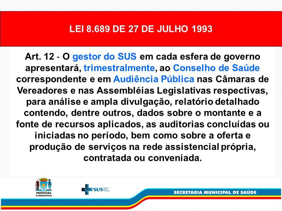 LEI 8.689 DE 27 DE JULHO 1993