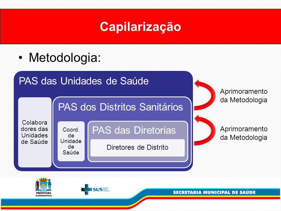 Capilarização Metodologia: Diretores de Distrito