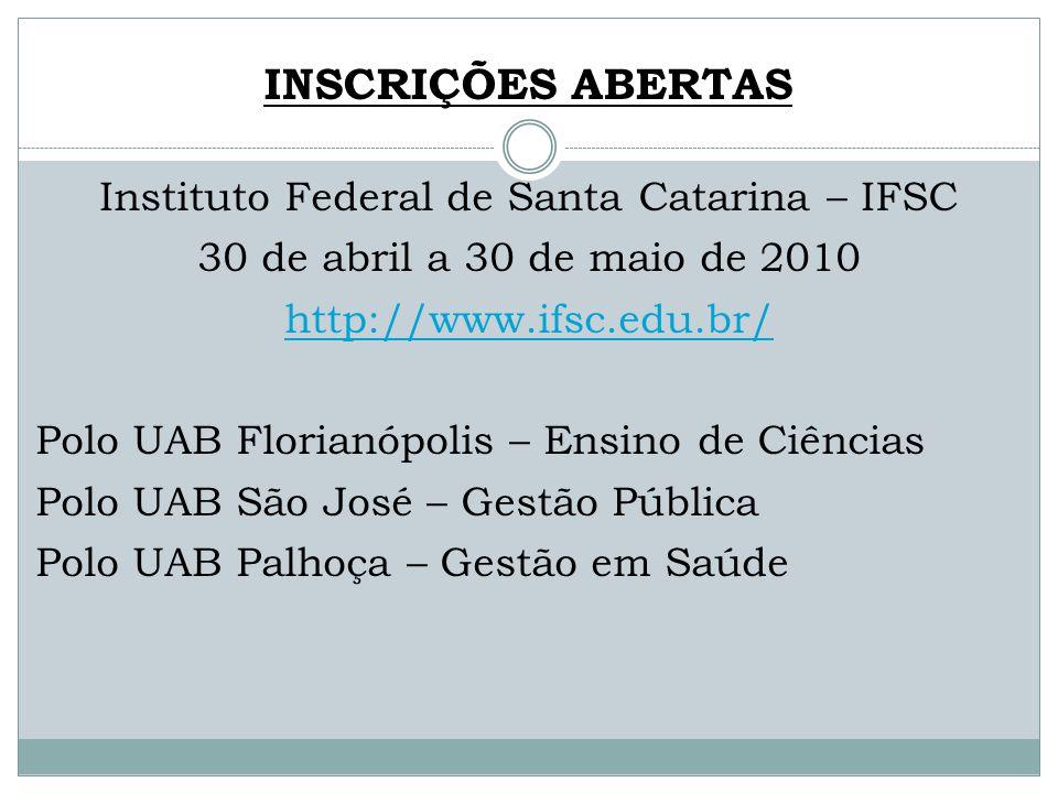 Instituto Federal de Santa Catarina – IFSC