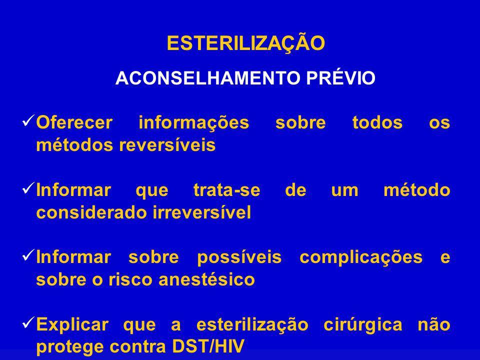 ACONSELHAMENTO PRÉVIO