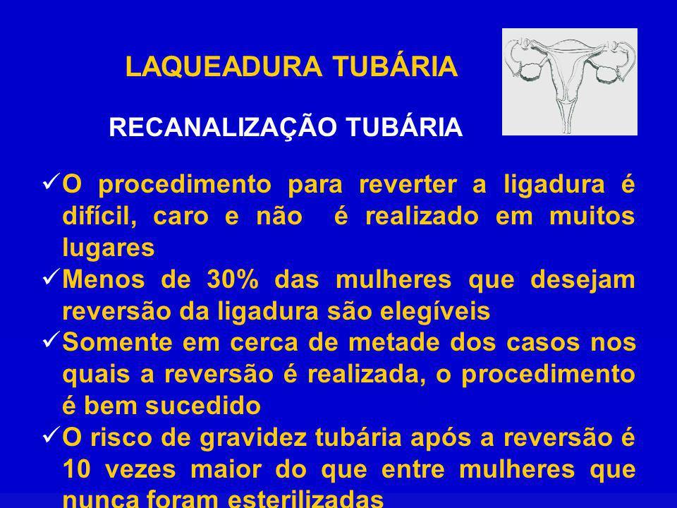 RECANALIZAÇÃO TUBÁRIA