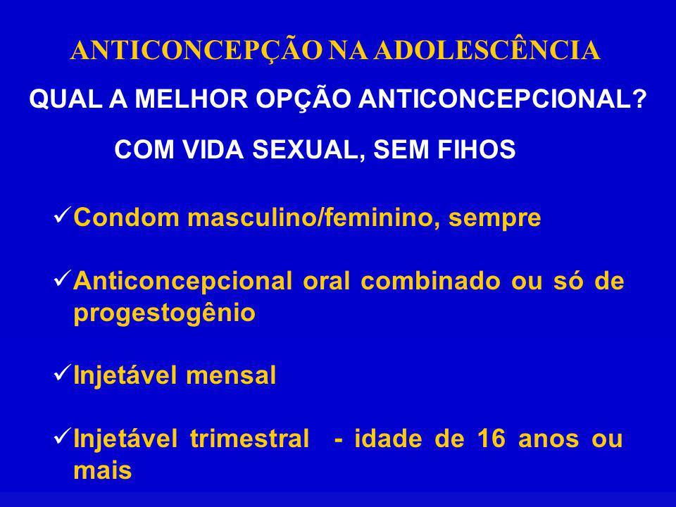 ANTICONCEPÇÃO NA ADOLESCÊNCIA QUAL A MELHOR OPÇÃO ANTICONCEPCIONAL