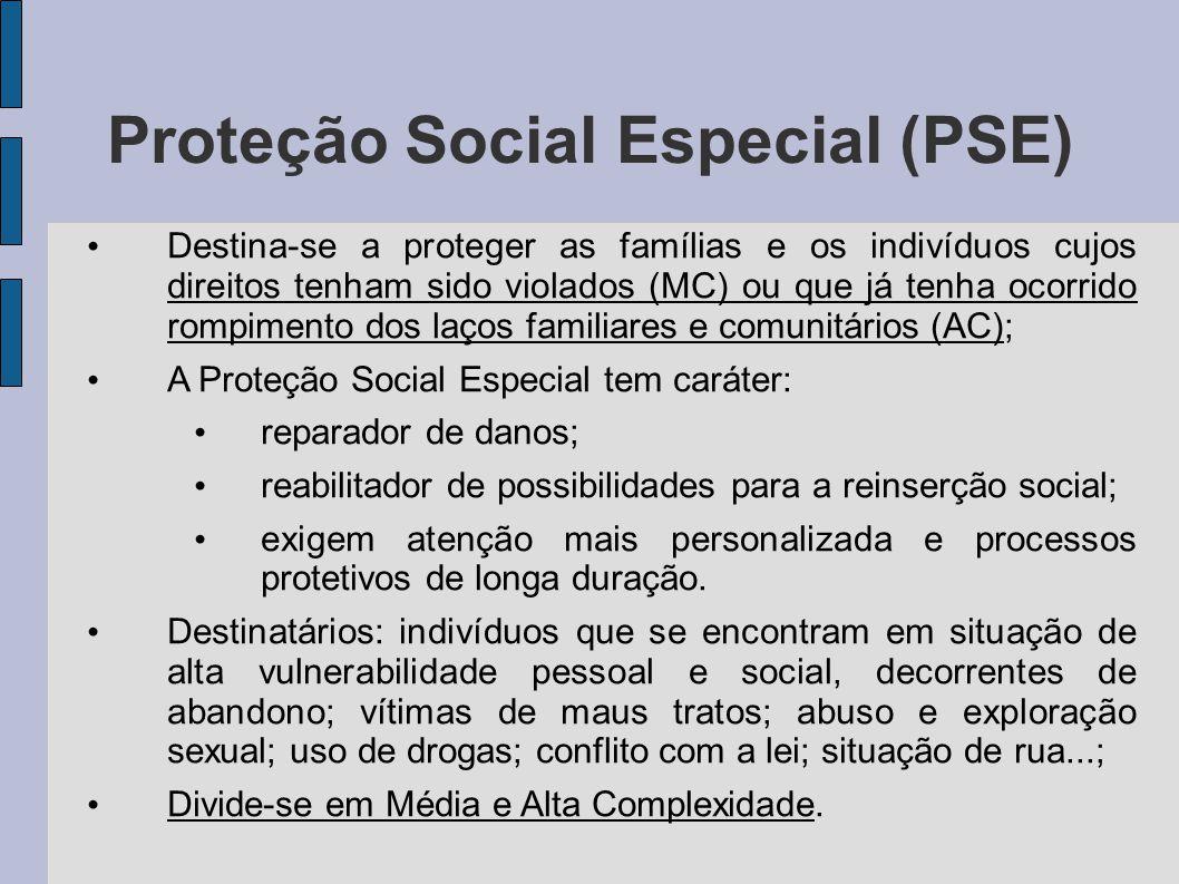 Proteção Social Especial (PSE)