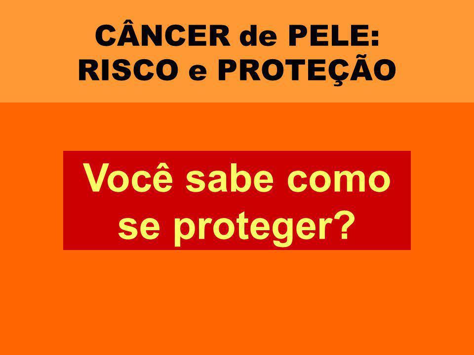 CÂNCER de PELE: RISCO e PROTEÇÃO