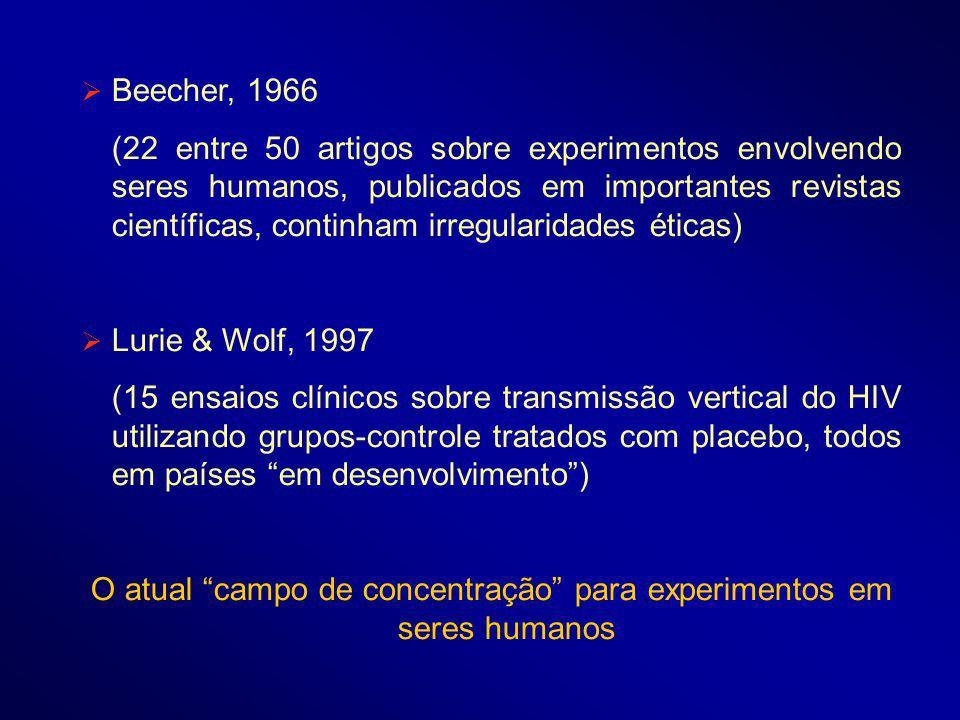 O atual campo de concentração para experimentos em seres humanos