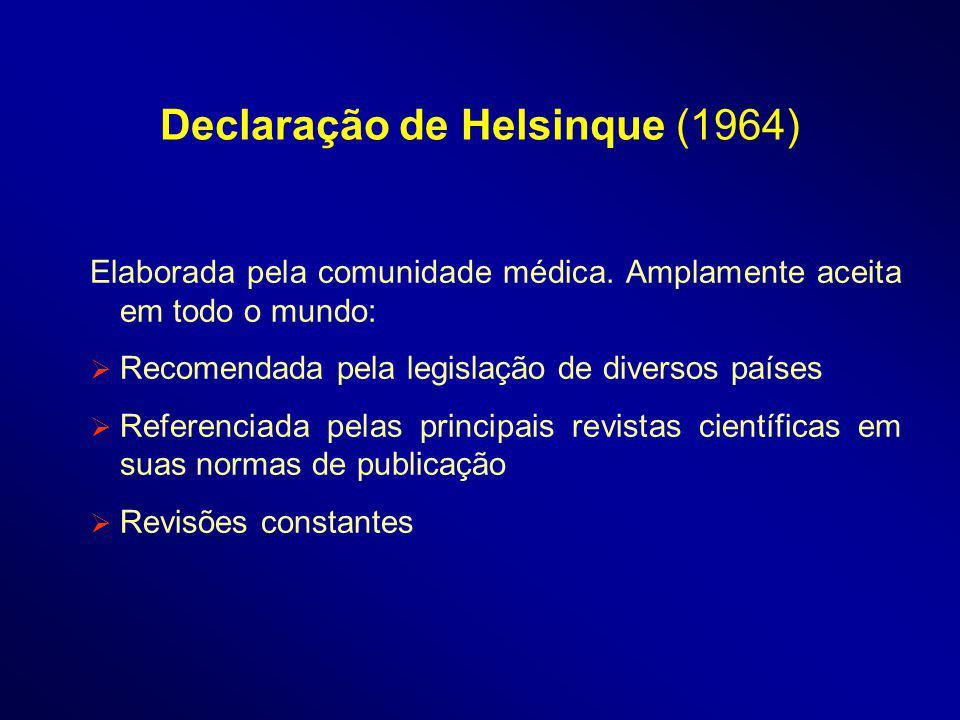 Declaração de Helsinque (1964)