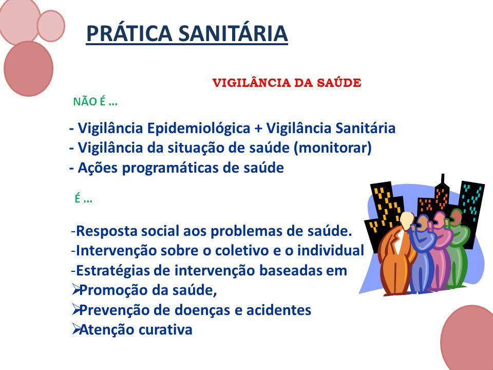 PRÁTICA SANITÁRIA - Vigilância Epidemiológica + Vigilância Sanitária