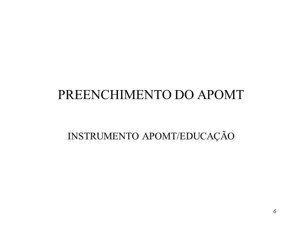 PREENCHIMENTO DO APOMT