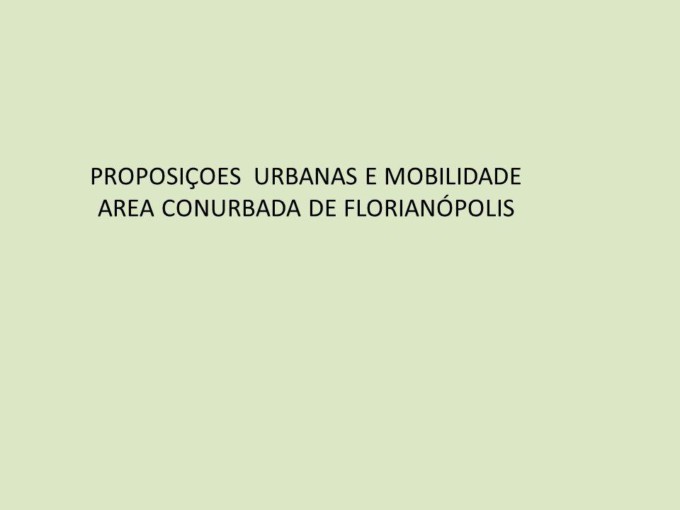 PROPOSIÇOES URBANAS E MOBILIDADE AREA CONURBADA DE FLORIANÓPOLIS