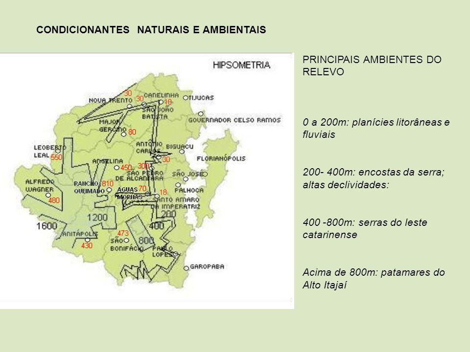 CONDICIONANTES NATURAIS E AMBIENTAIS
