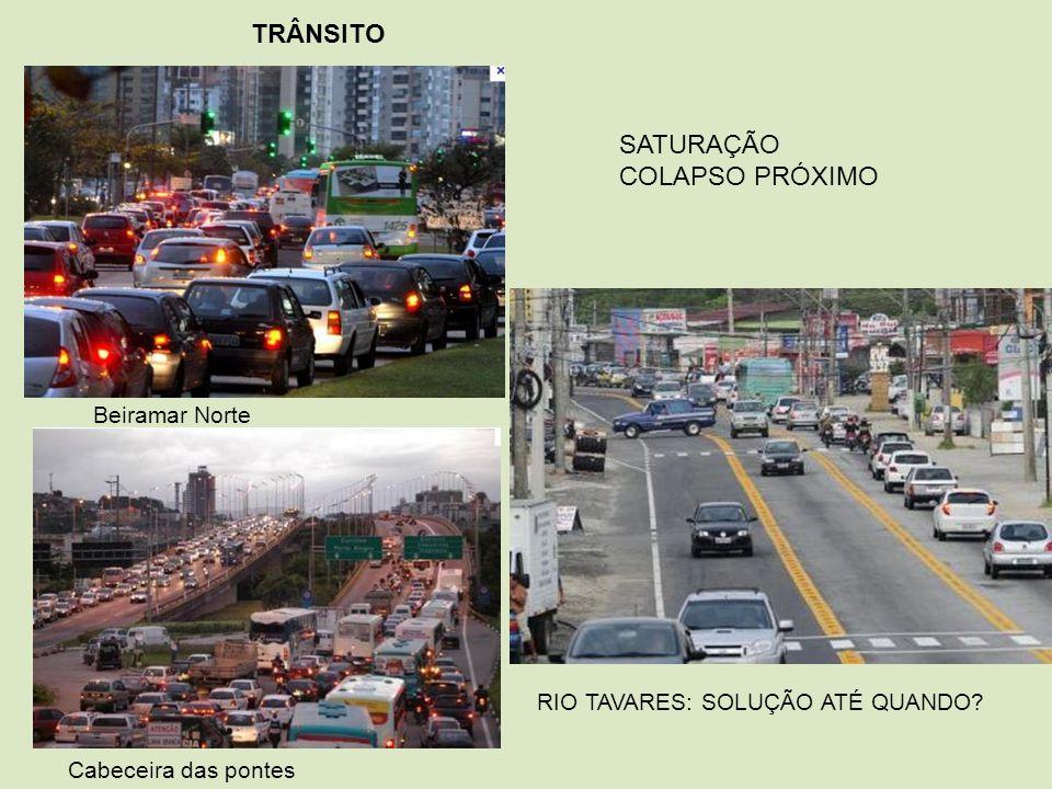 TRÂNSITO SATURAÇÃO COLAPSO PRÓXIMO Beiramar Norte
