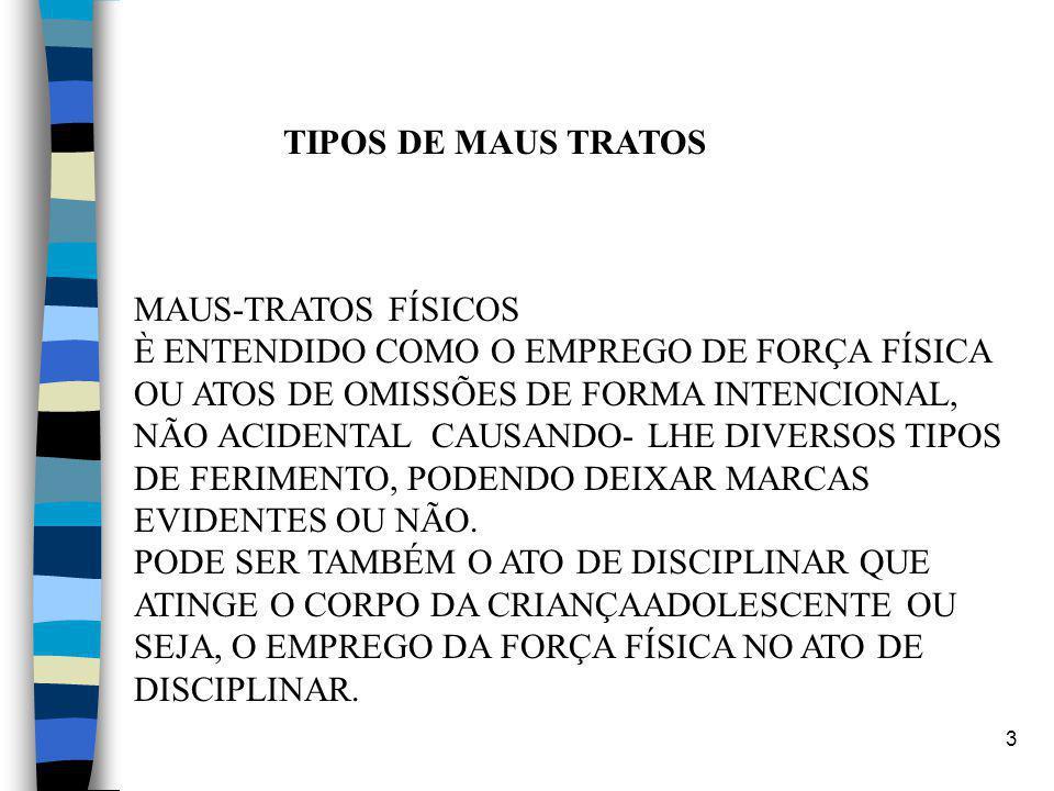 TIPOS DE MAUS TRATOS MAUS-TRATOS FÍSICOS.