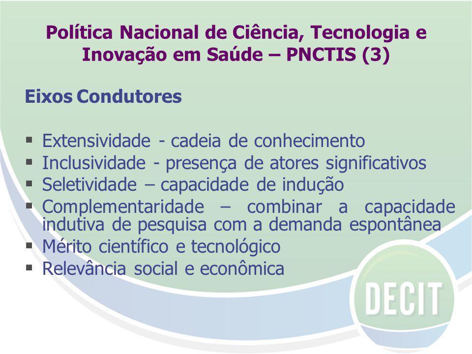 Política Nacional de Ciência, Tecnologia e Inovação em Saúde – PNCTIS (3)
