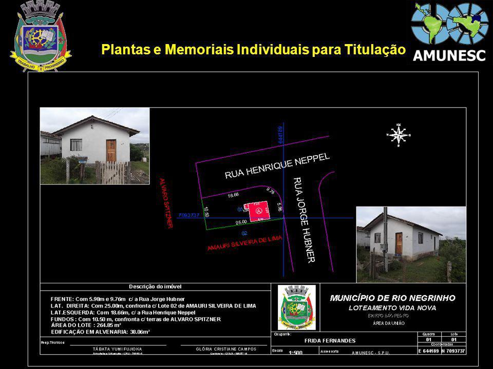 Plantas e Memoriais Individuais para Titulação