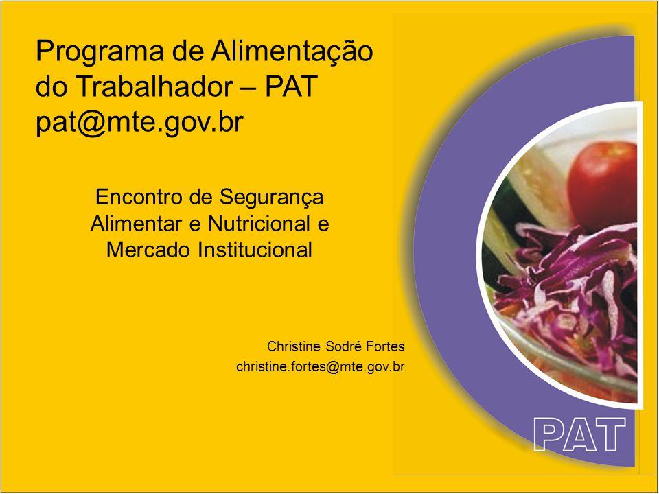 Encontro de Segurança Alimentar e Nutricional e Mercado Institucional
