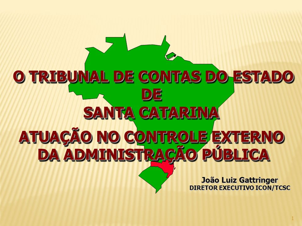 O TRIBUNAL DE CONTAS DO ESTADO DE SANTA CATARINA