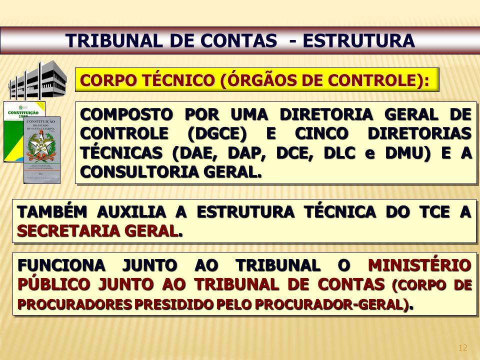 TRIBUNAL DE CONTAS - ESTRUTURA